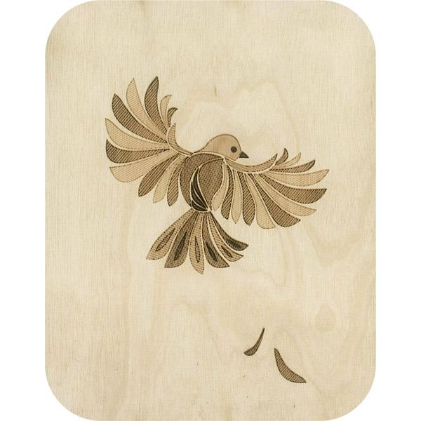 Wooden card Bird