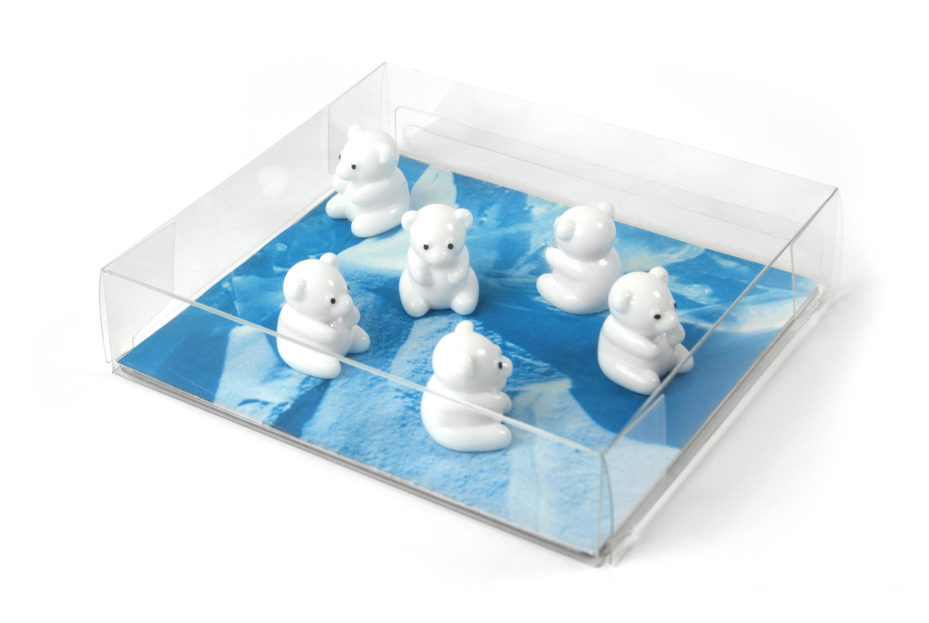 Magnets polar bear set van 6