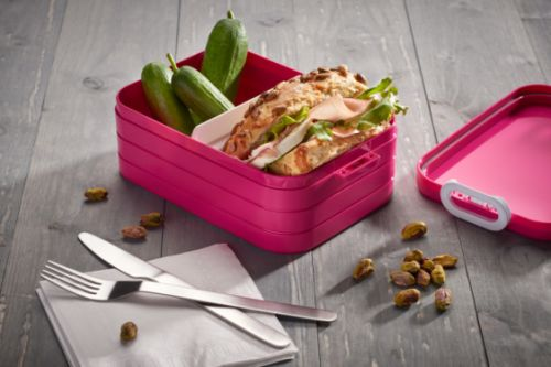 Lunchbox to go midi pink