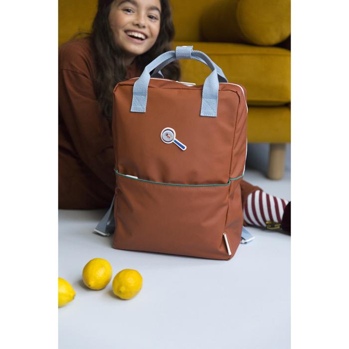 Sticky lemon backpack L corduroy brick