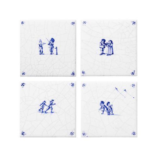 Set of 4 ceramic coasters
