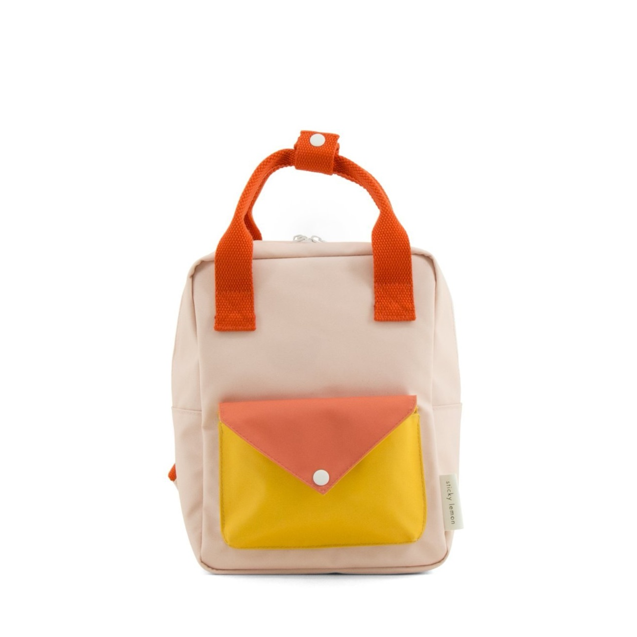Backpack envelope small soft pink sporty red