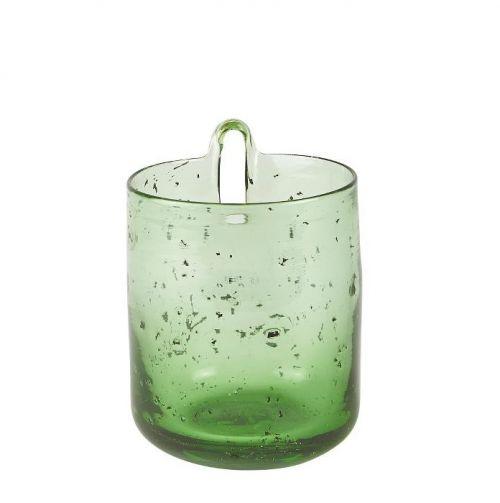 Flower pot wall glass green small