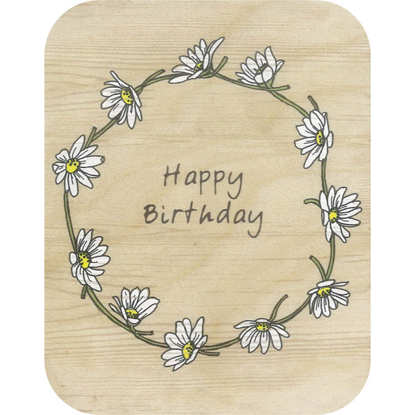 Wooden card hb day daisy chain