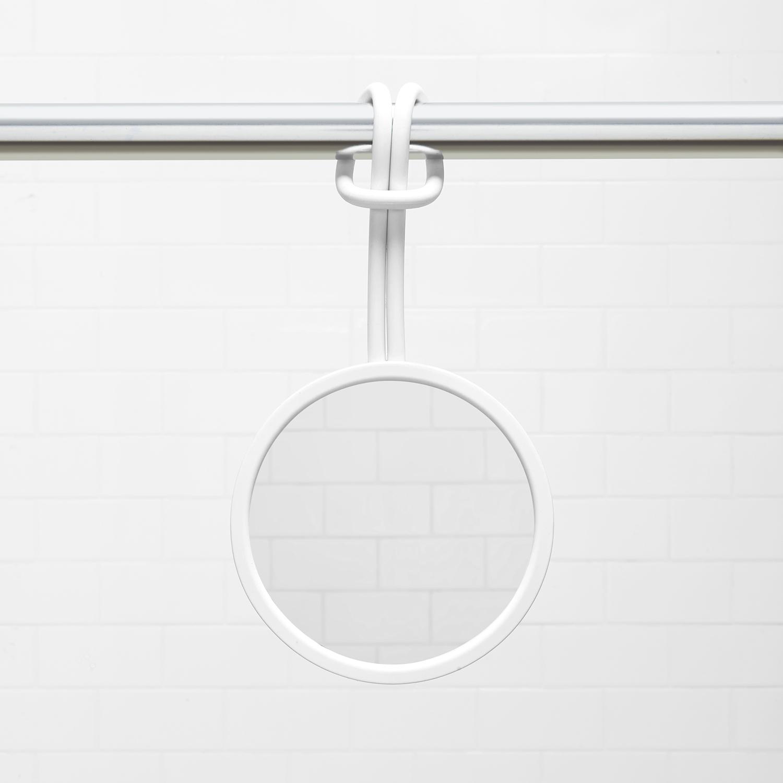 Flex shower mirror white