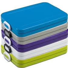 Lunchbox to go flat silver