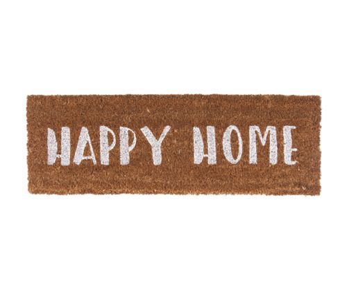 Deurmat happy home white
