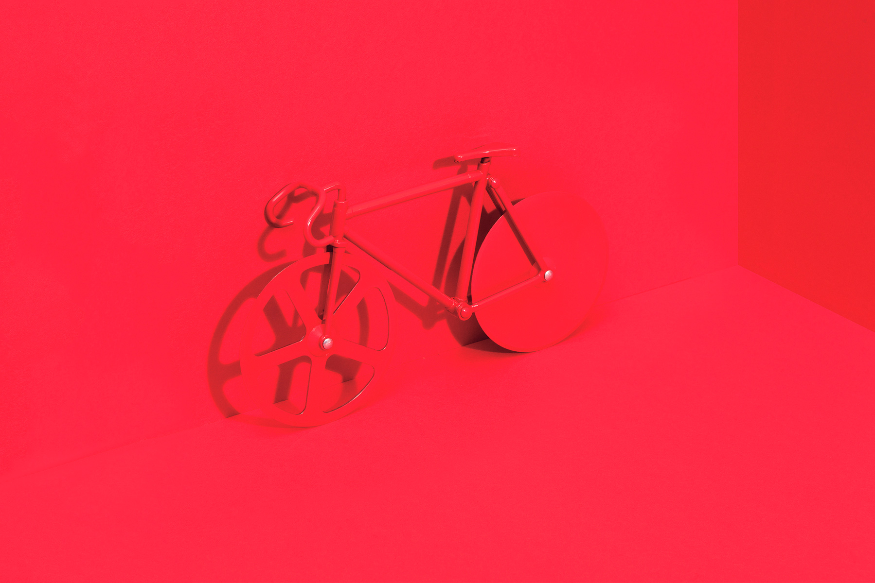 Fixie pizzasnijder pure red