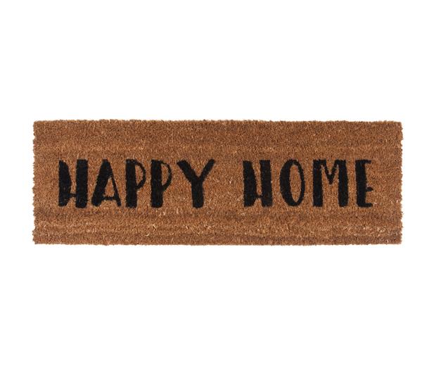Deurmat happy home black