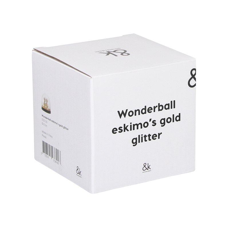 Wonderball eskimo's gold glitter