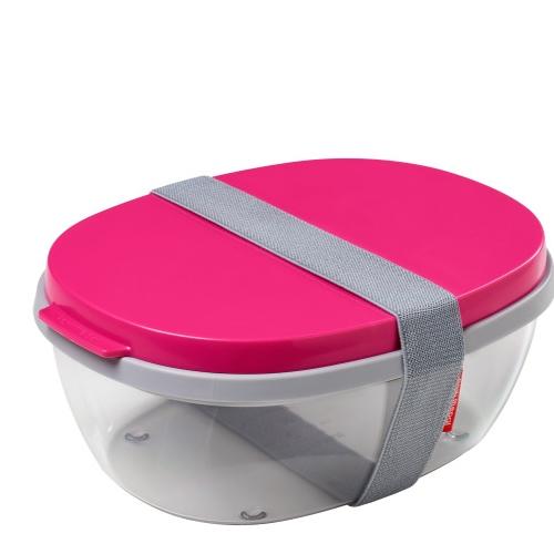 Saladbox ellipse duo pink