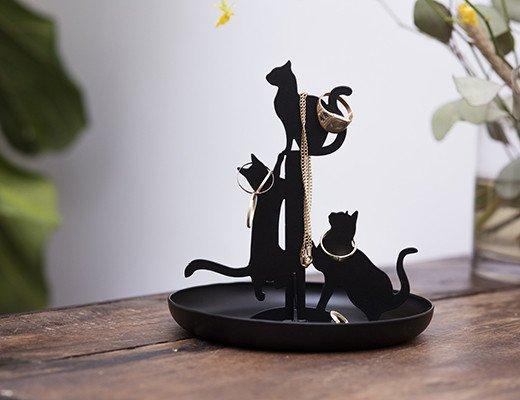 Cat jewelry stand