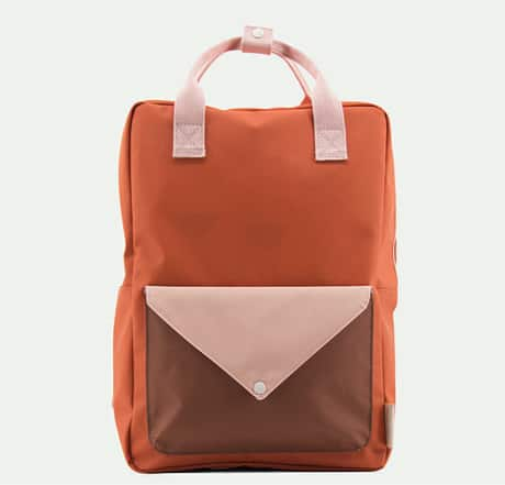 Backpack envelope L tangerine peony pink cider brown