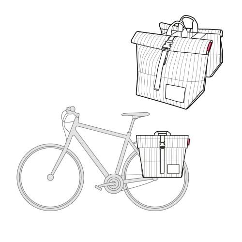 Urban twin bike bag Copenhagen