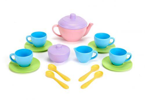 Tea set pink teapot