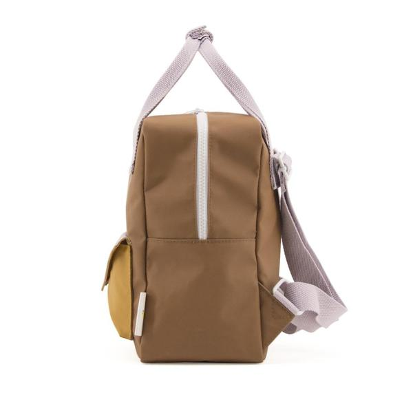 Backpack envelope S sugar brown violet caramel fudge