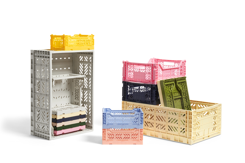 Hay Colour Crate L light grey