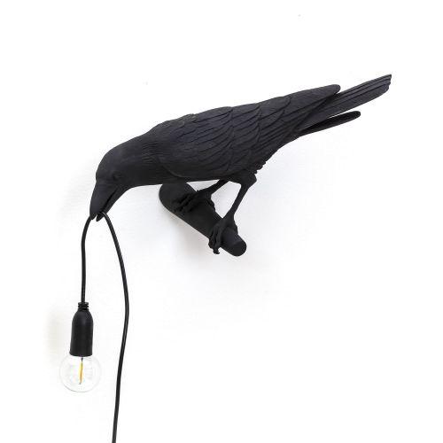 Bird lamp looking left black
