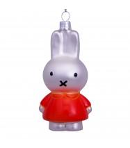 Kerstbal Nijntje oranje jurkje
