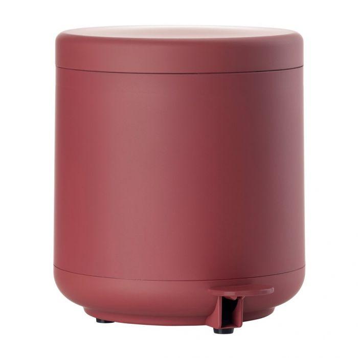 Pedal bin maroon red ume 4 L