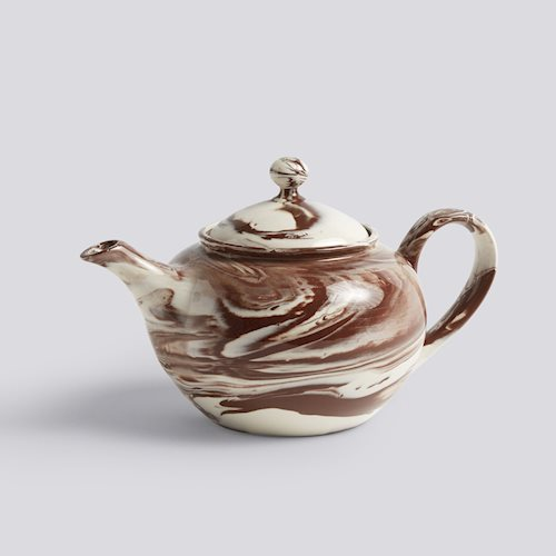 HAY Marbled teapot Brown