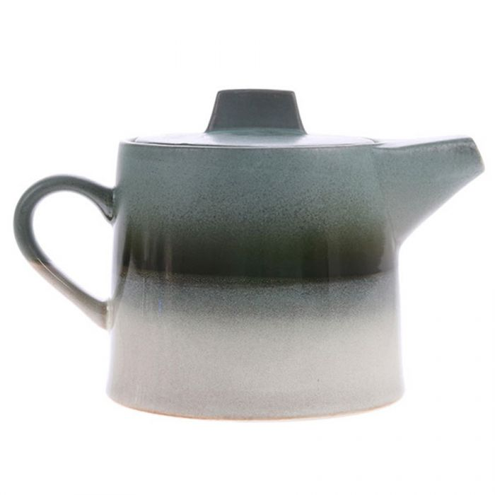 Ceramic 70's tea pot glacier