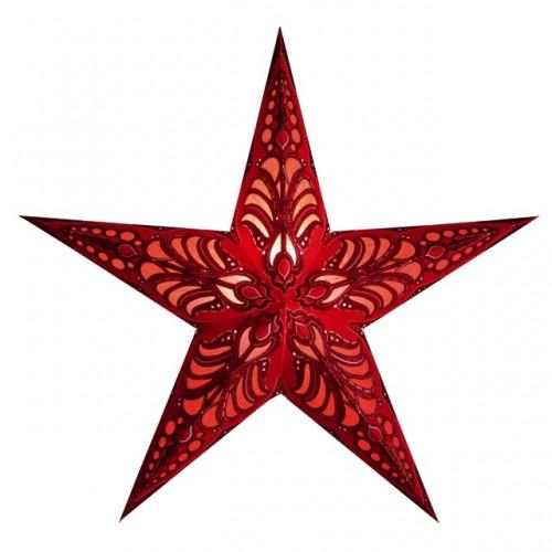 Kerstster lamp geeta rood