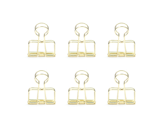 Wire clips set of 6 gold