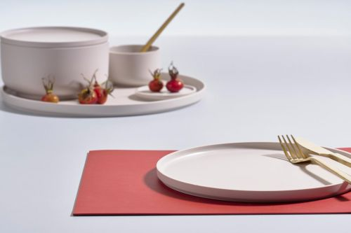 Lino placemat rosehip