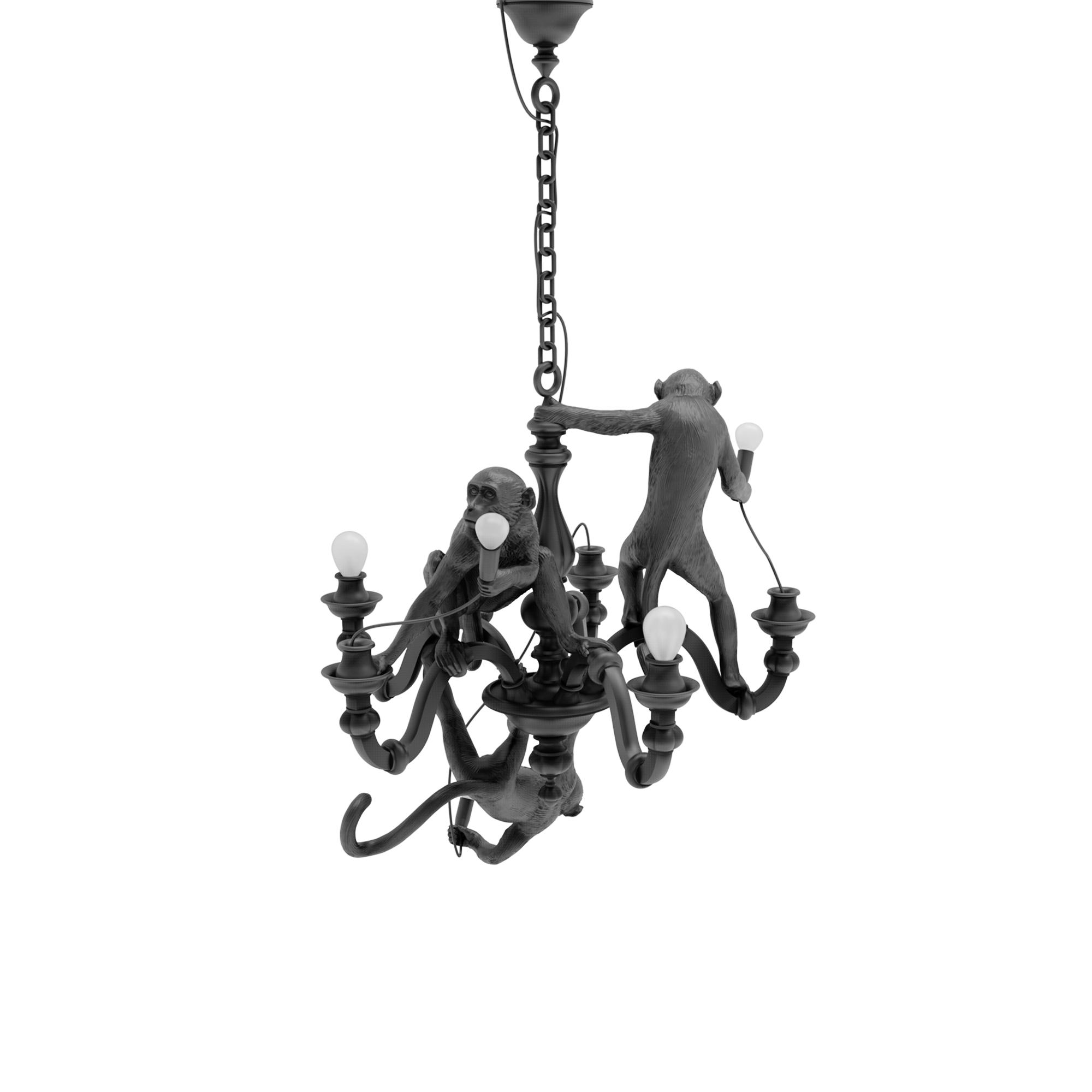 Monkey chandelier black