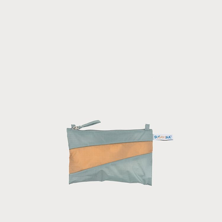 Pouch grey & camel S
