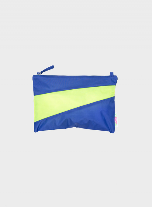 Pouch electric blue & fluo yellow M