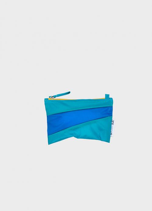 Pouch aqua & blue S