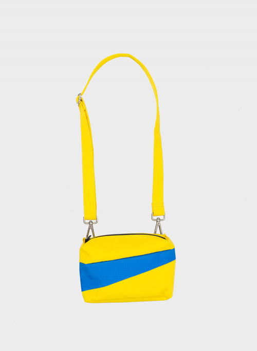 Bum bag TV yellow & blueback S