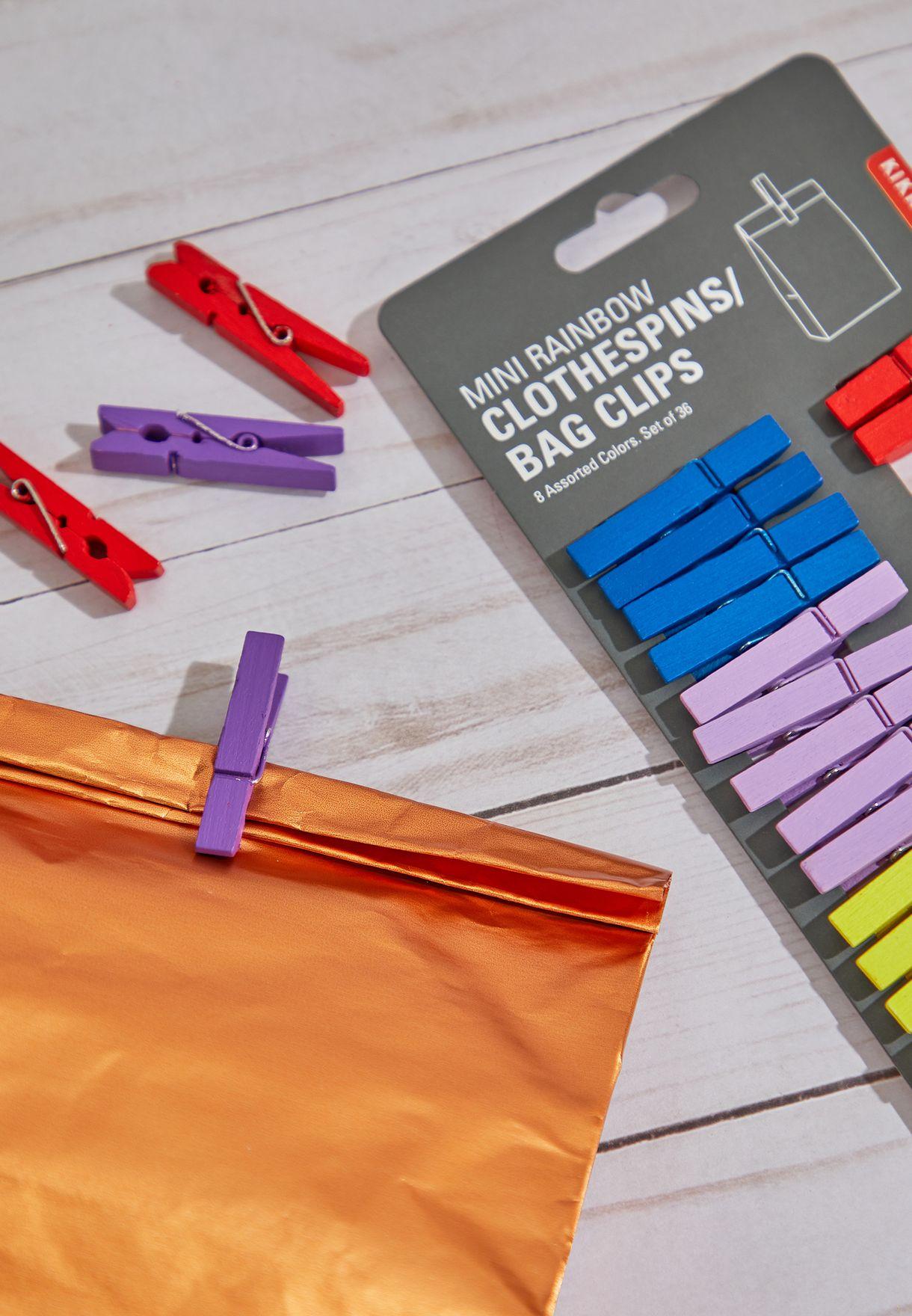 Mini Clothes Pin Bag Clips
