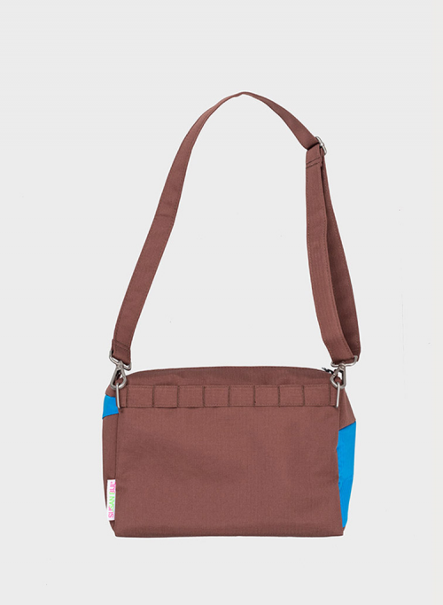 Bum bag brown & skyblue M