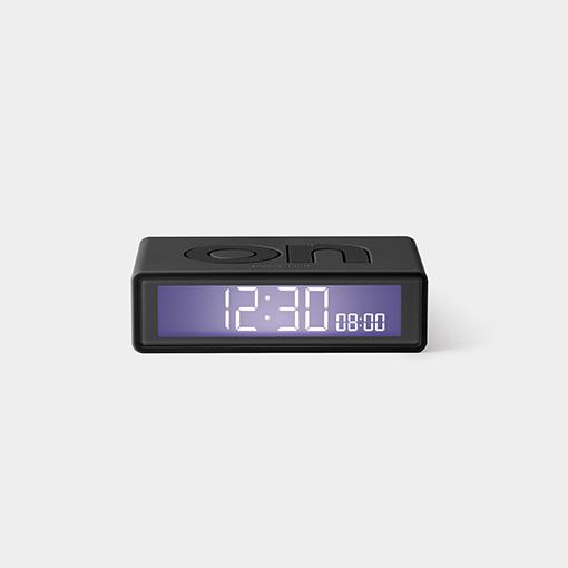 Flip travel alarm clock antracite
