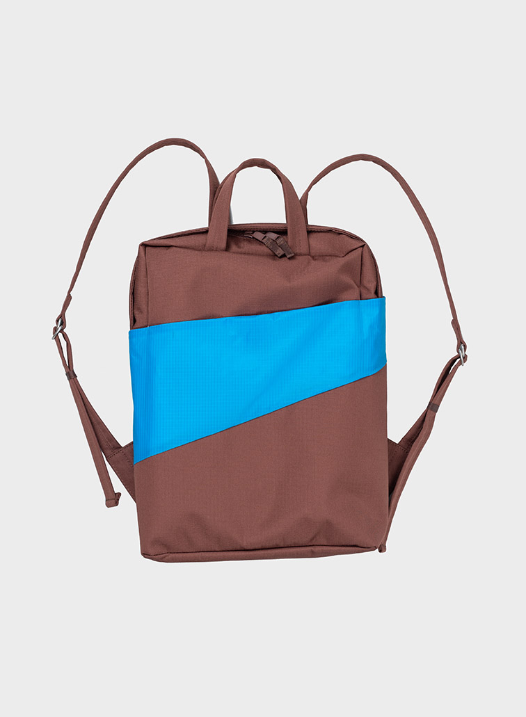 The new Backpack brown & sky blue
