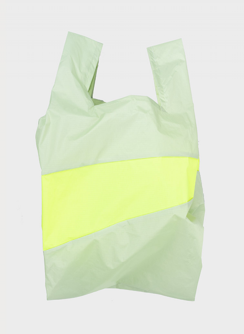 Shoppingbag 2006 pistachio & fluo yellow S