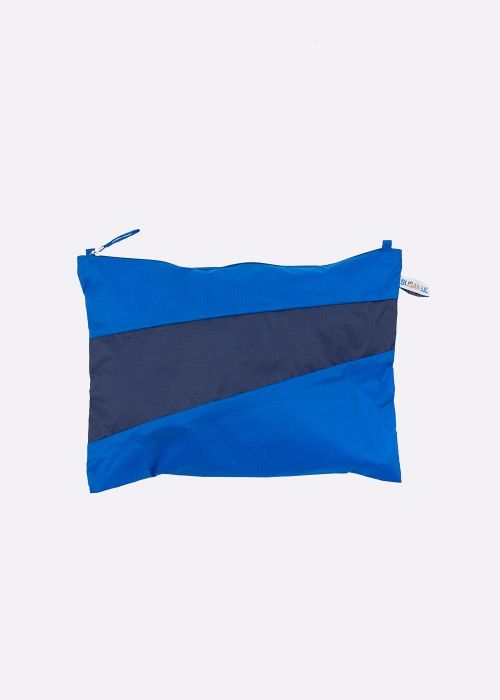 Pouch blue & navy M