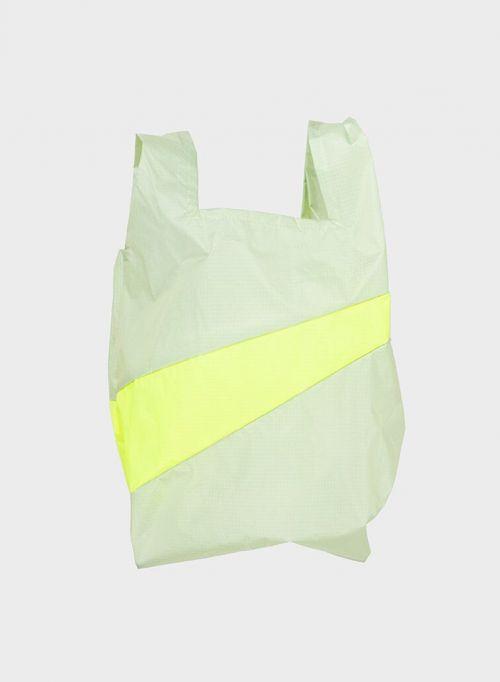 Shoppingbag 2006 pistachio & fluo yellow M