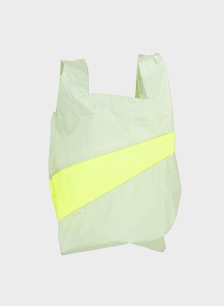 Shoppingbag 2006 pistachio & fluo yellow M