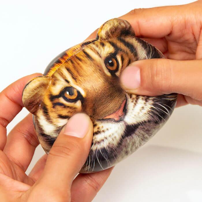 Feline fire stress ball tiger