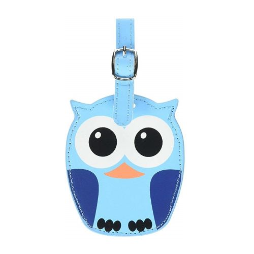 Luggage tag owl blue
