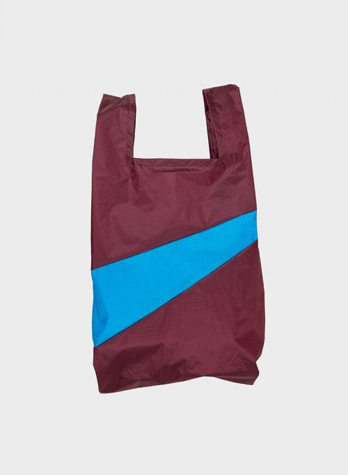 Shoppingbag 2012 burgundy & sky blue S