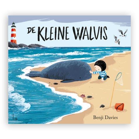 Kleine walvis met blokpuzzel