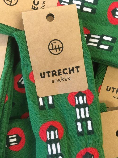 Utrechtse kerstsokken groen 39-42