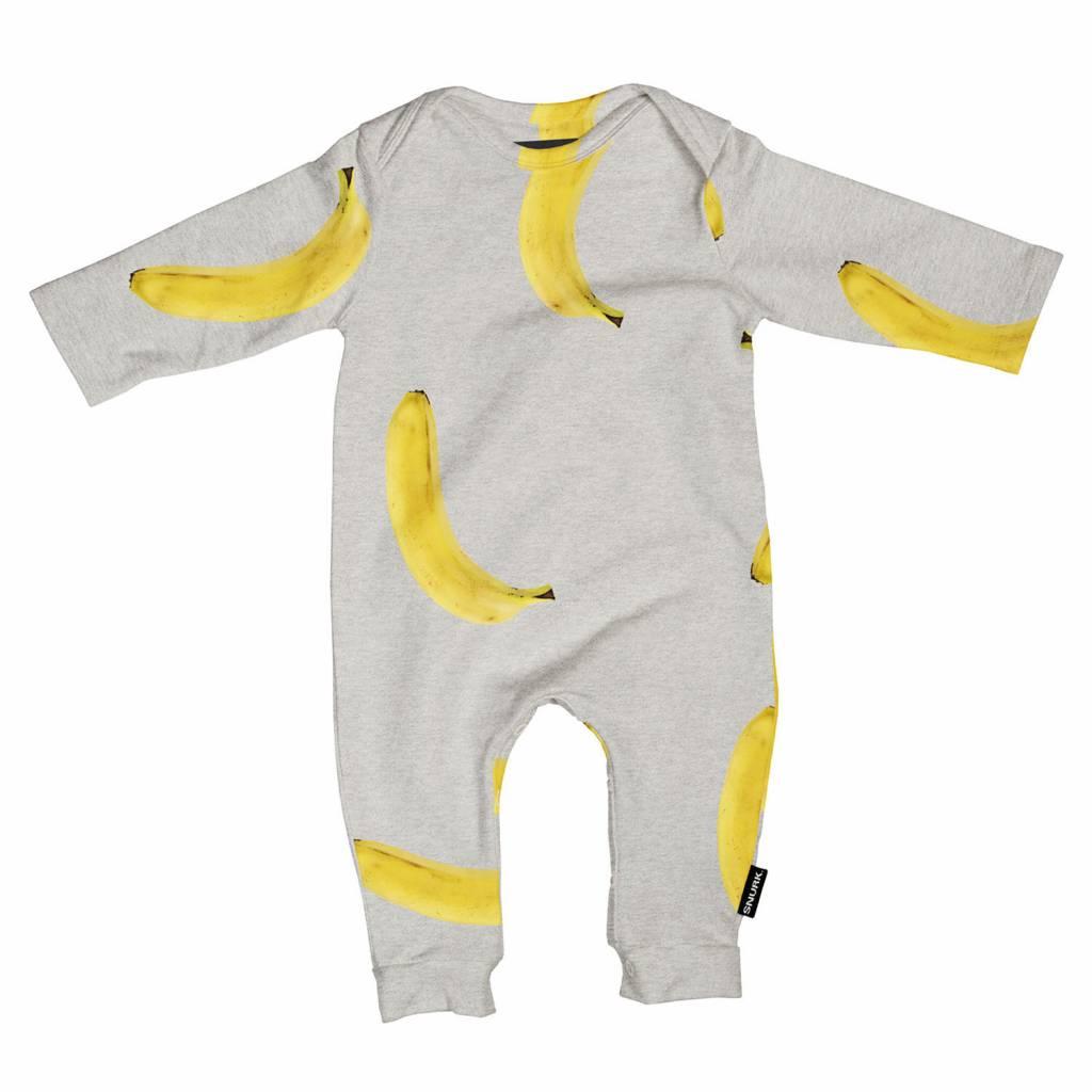 Jumpsuit banana grey maat 68