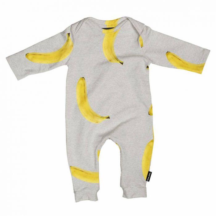 Jumpsuit banana grey maat 56