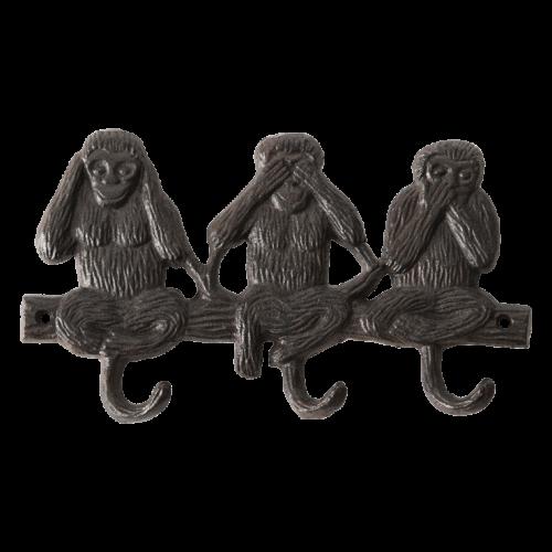 Haakjes 3 apen